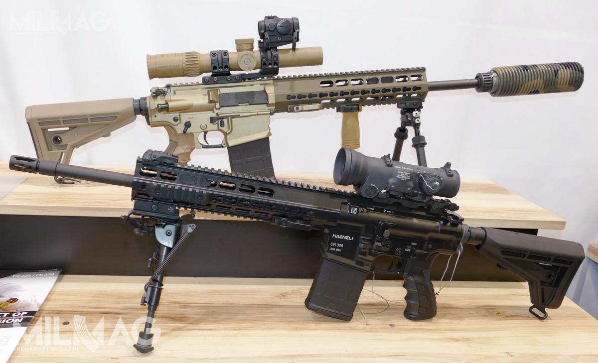 W Norymberdze zadebiutował 7,62-mm karabin samopowtarzalny CR 308. Broń narynek służb iwojskowy będzie dostarczana wkolorze ziemistym, anarynek cywilny wkolorze czarnym. Konstrukcję Haenel Defence wyposażono wszereg rozwiązań rzadko spotykanych wpodobnych modelach
