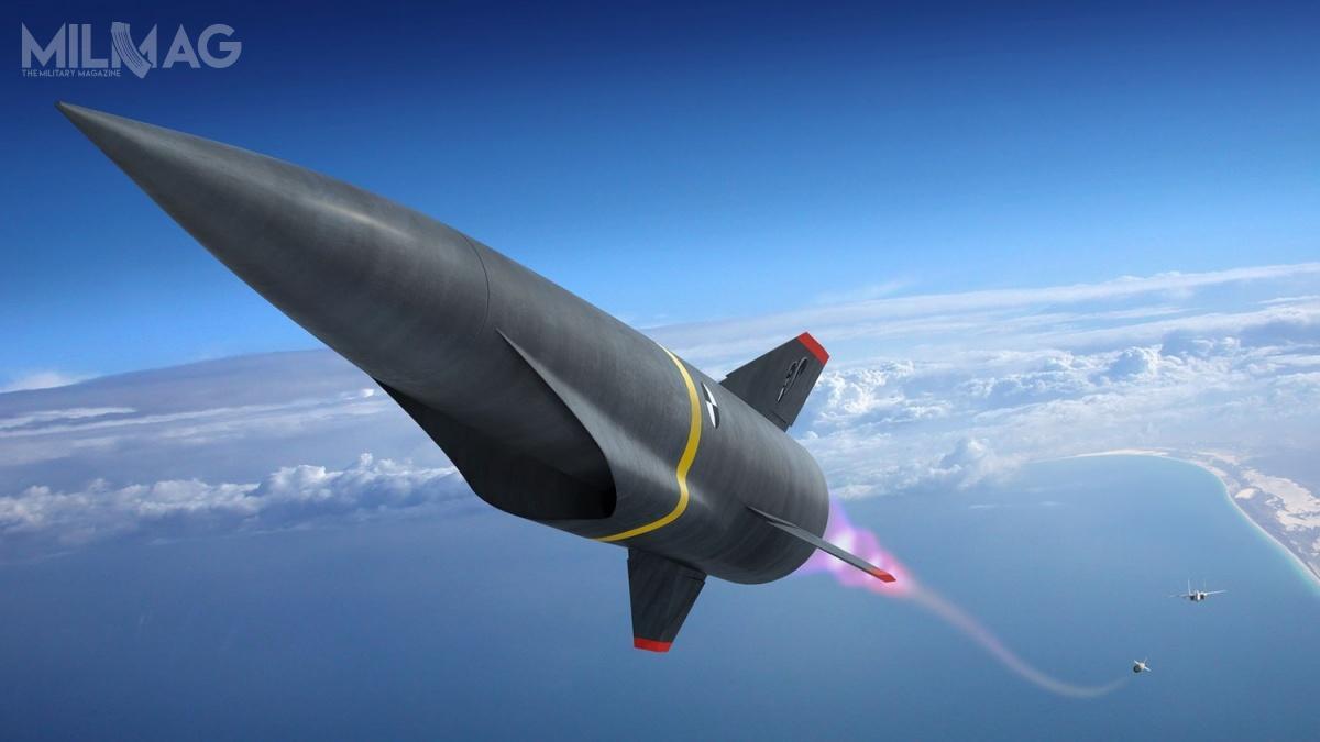Program ARRW jest drugim, poHCSW, realizowanym przezLockheed Martin dla USAF, któryma nacelu opracowanie broni hipersonicznej. /Grafika: Lockheed Martin