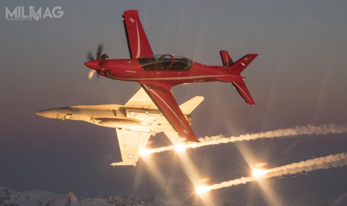Pilatus PC-21 wszedł jak dotąd nawyposażenie wojsk lotniczych Arabii Saudyjskiej, Australii, Francji, Jordanii, Kataru, Singapuru, Szwajcarii, Wielkiej Brytanii iZjednoczonych Emiratów Arabskich. Od2002 zbudowano  211 egzemplarzy / Zdjęcie: Pilatus Aircraft