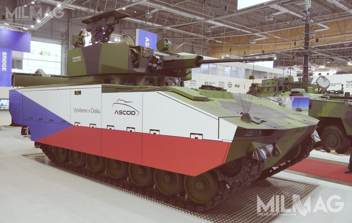 Zaprezentowany wBrnie bojowy wóz piechoty General Dynamics European Land Systems ASCOD zezdalnie sterowanym modułem uzbrojenia Elbit Systems UT30MK2. Wzależności odwymagań pojazd może być też wyposażony wwieżę załogową / Zdjęcie: Remigiusz Wilk