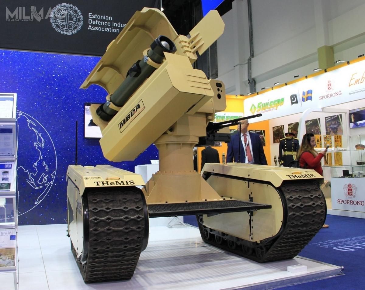 Bezzałogowy samobieżny pojazd przeciwpancerny Milrem/MBDA IMPACT pozwoli nazastąpienie ręcznych wyrzutni ppk wpododdziałach piechoty / Zdjęcie: Milrem Robotics