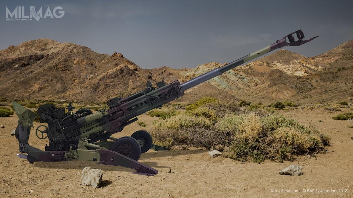 Pierwsze 25 holowanych armatohaubic M777A2 zostało wyprodukowanych wUSA. Pozostałe 120 z145 zamówionych dział powstanie nalicencji wzakładach spółki Mahindra Defence Systems / Zdjęcie: BAE Systems