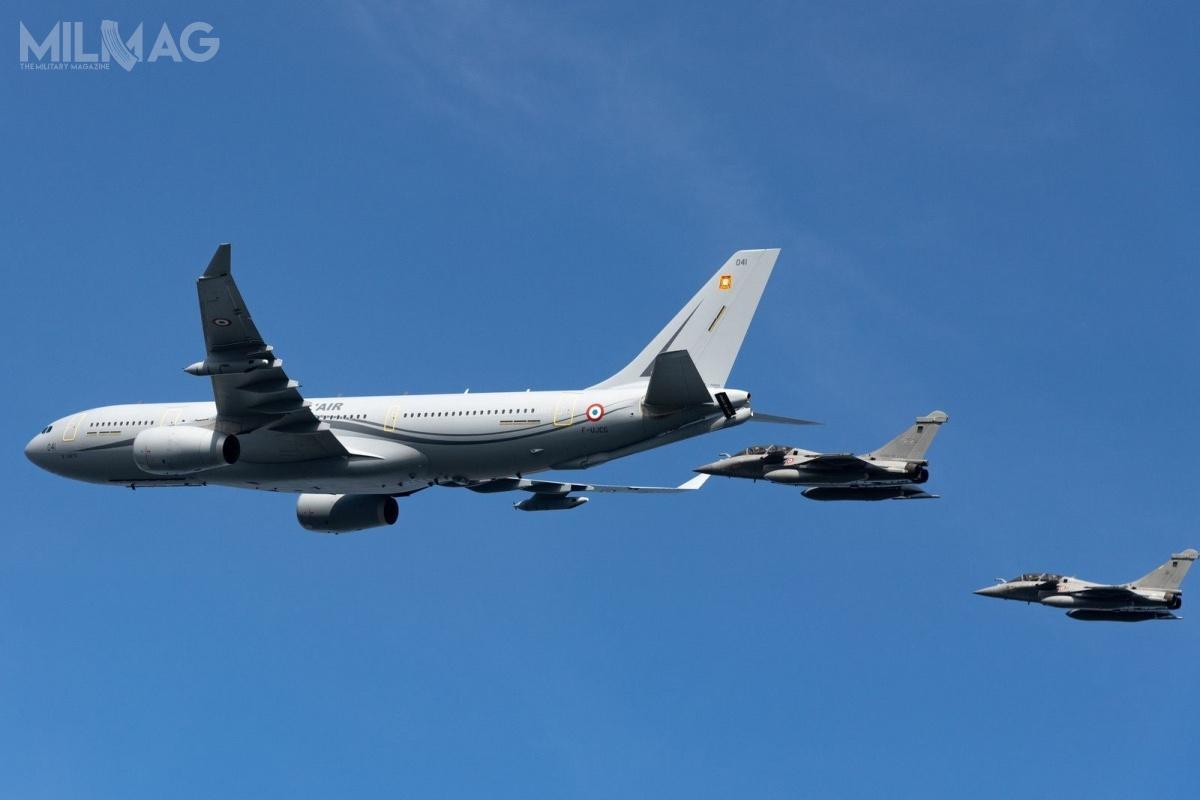 Paryż ma negocjować zNew Delhi sprzedaż m.in.36 kolejnych samolotów wielozadaniowych Rafale i6samolotów transportowo-tankujących Airbus A330-200 MRTT, przeznaczonych dla indyjskich wojsk lotniczych. / Zdjęcie: Armée de l'Air