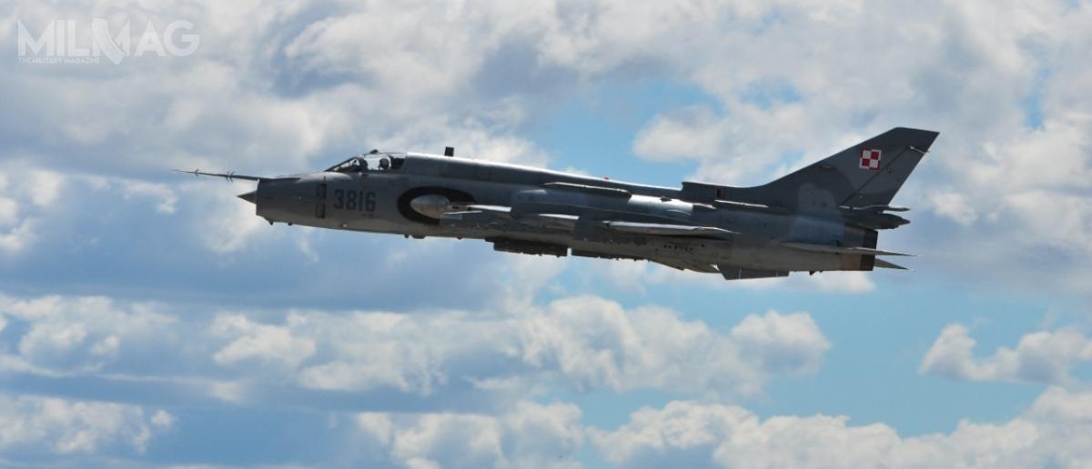 Siły Powietrzne dysponują 18 samolotami myśliwsko-bombowymi Su-22M4/UM3K i29 myśliwskimi MiG-29. Według planów MON, wszystkie zostaną zastąpione przez32 samoloty wielozadaniowe 5. generacji wramach programu Harpia / Zdjęcie: 21. Baza Lotnictwa Taktycznego