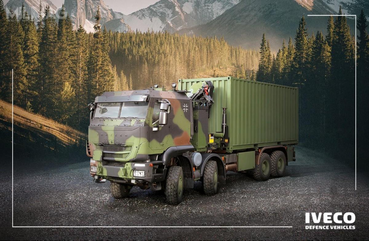 Niemieckie siły zbrojne otrzymają 1048 włoskich samochodów ciężarowych Iveco Trakker wlatach 2021-2028. / Zdjęcie: Iveco Defence Vehicles
