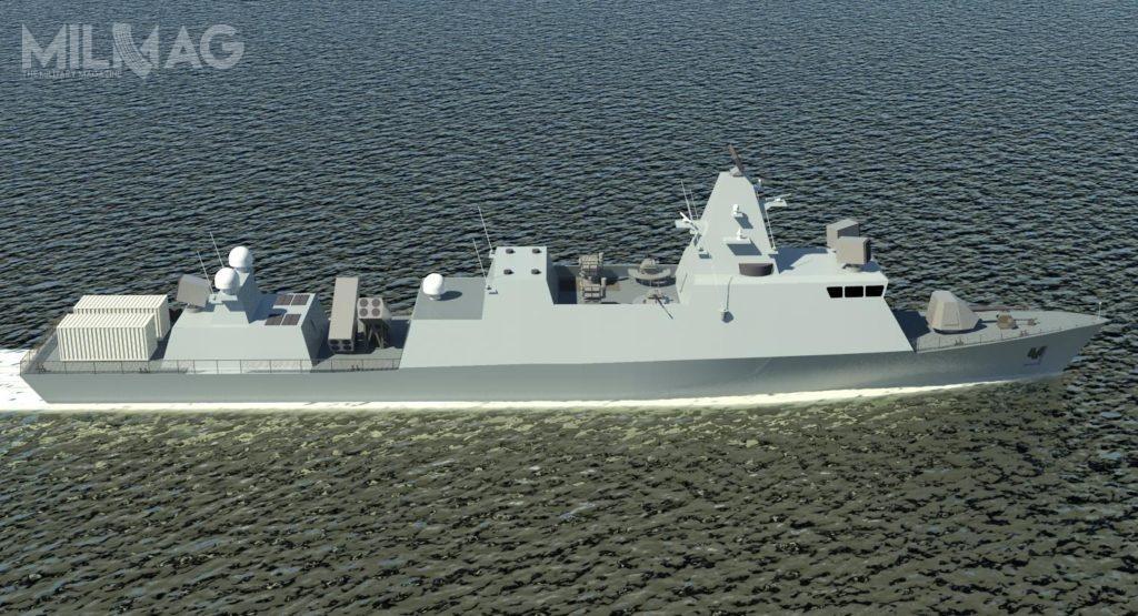 Spółka Israel Shipyards zaprezentowała okręty wdwóch nieznacznie różniących się konfiguracjach wyposażenia iuzbrojenia. Najbardziej zauważalną różnicą jest długość całkowita kadłubów / Grafiki: Israel Shipyards