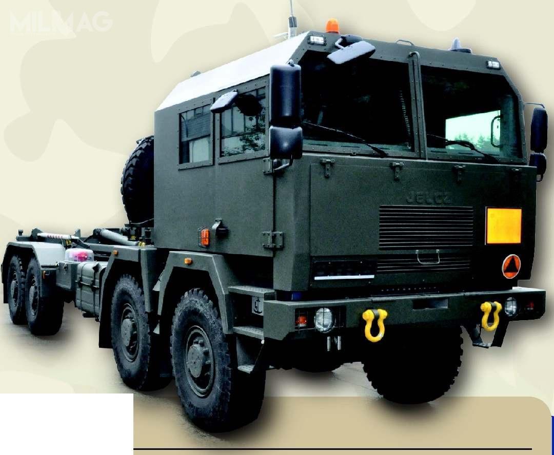 Opancerzone pojazdy wkonfiguracji 8x8 będą transportować główne komponenty systemu obrony powietrznej Patriot / Grafika: Jelcz