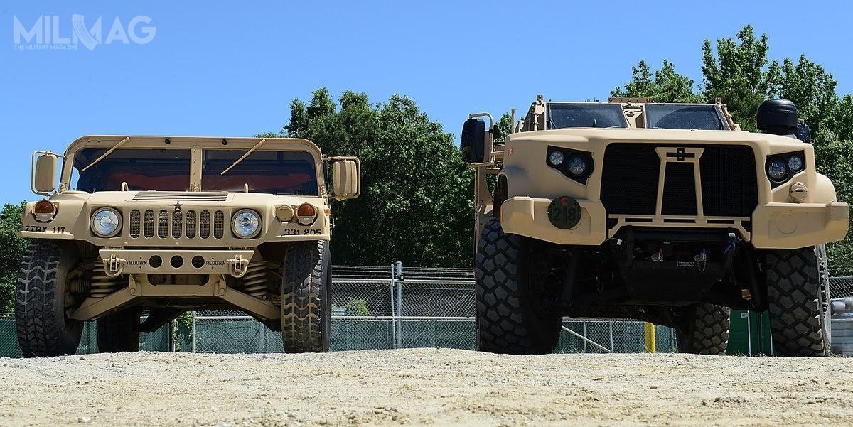 Wybrana w2015 nanastępce HMMWV rodzina pojazdów JLTV obejmuje dwudrzwiowe Combat Support Vehicle (CSV) iczterodrzwiowe Combat Tactical Vehicle (CTV).  Produkowane są wczterech konfiguracjach: pojazd wielozadaniowy M1280, wóz wsparcia ogniowego M1281, nośnik uzbrojenia M1278 orazwóz wsparcia M1279. Planowane jest opracowanie wersji dozadań rozpoznania / Zdjęcie: Staff Sgt. Teresa J. Cleveland, USAF
