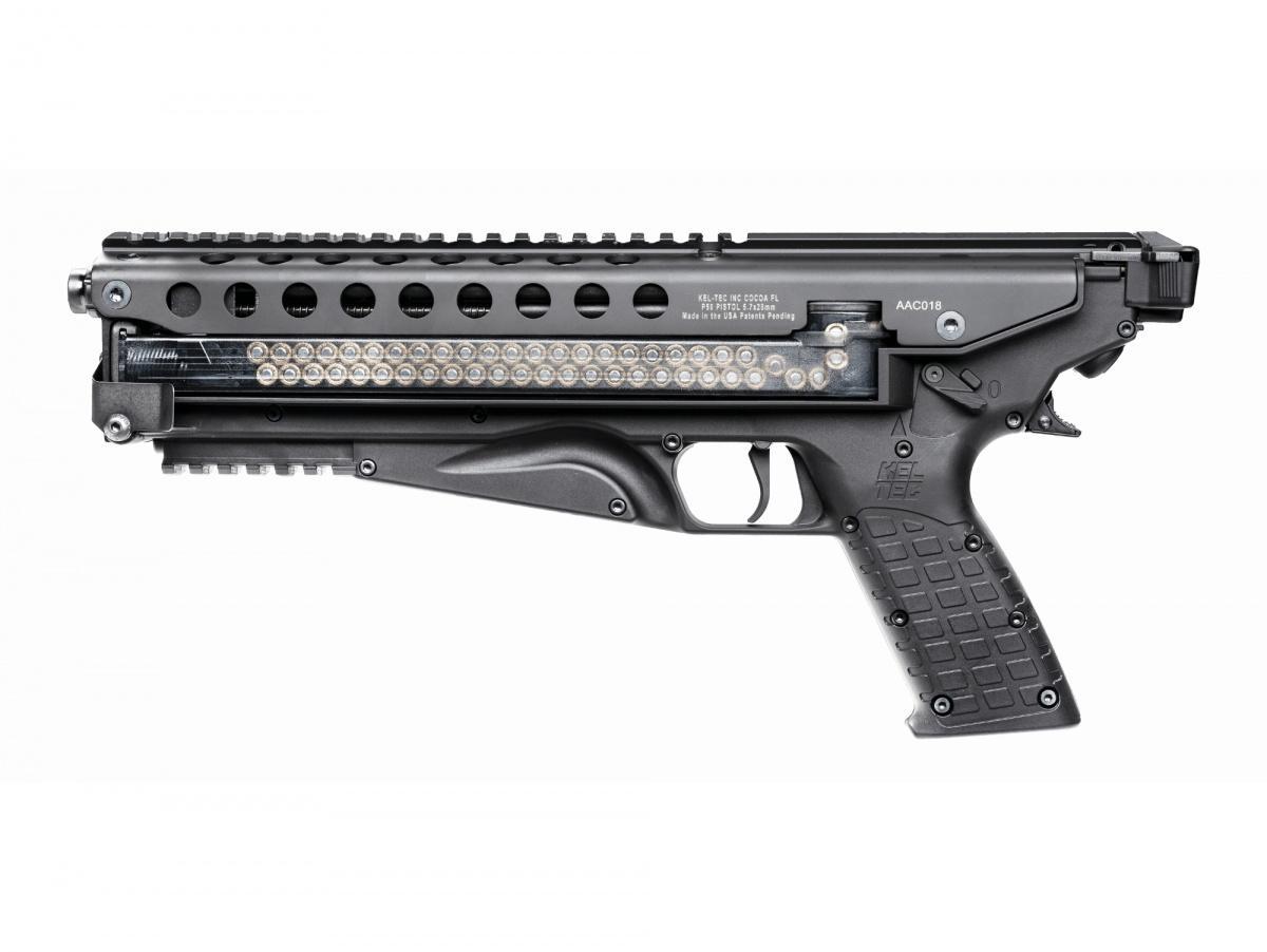 Masa niezaładowanego pistoletu samopowtarzalnego P50 wynosi 1,45 kg zpełnym magazynkiem 1,95 kg. Długość wynosi 381 mm, wysokość 170 mm, szerokość 51 mm. Pistolet niejest wyposażony wmechaniczne przyrządy celownicze. Standardowo zakłada się zakup iużycie dowolnego mikrokolimatora docelnego strzelania.