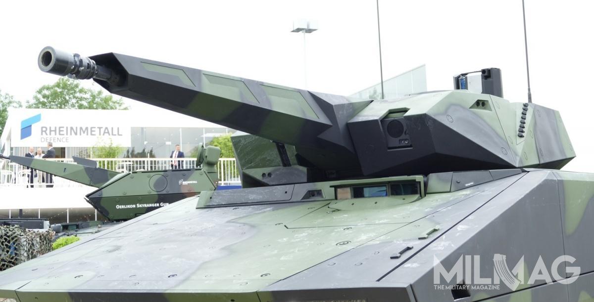 Wariant bwp wyposażono wzałogową wieżę Lance 2.0., którazostała uzbrojona w30/35-mm armatę automatyczną Wotan 30/35 oszybkostrzelności teoretycznej 200 strz./min