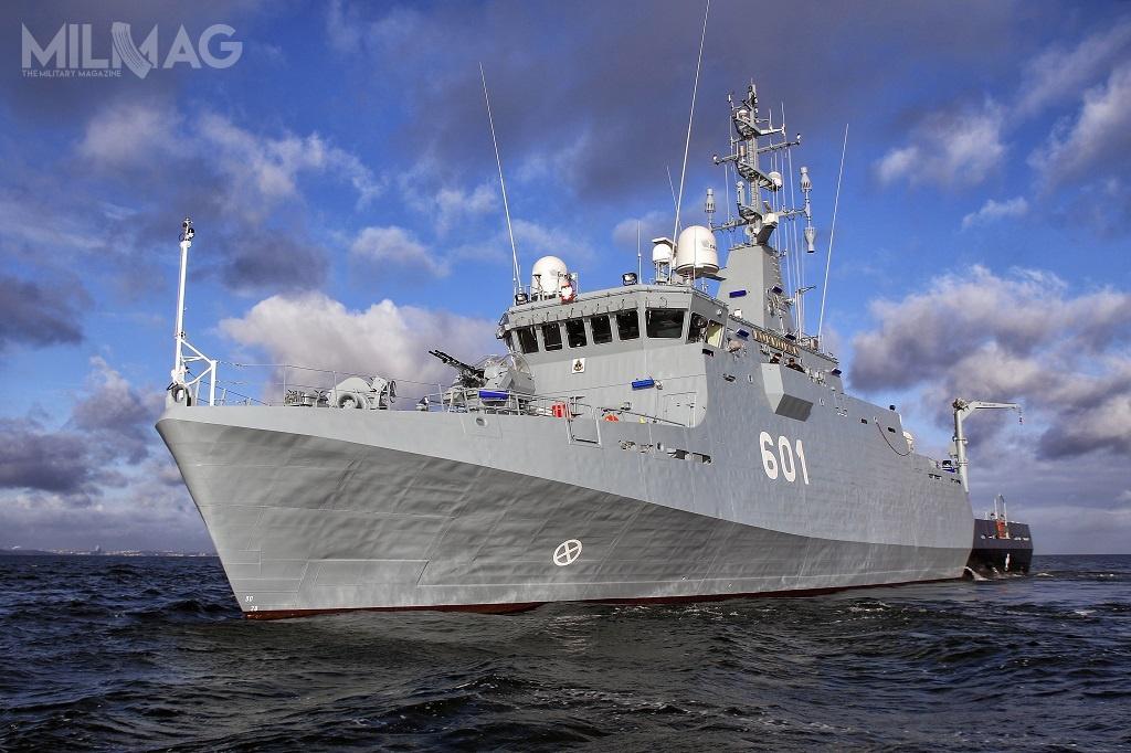 ORP Kormoran tonajnowszy okręt Marynarki Wojennej RP.  Zwodowany jako niszczyciel minma odpowiadać zaoczyszczanie akwenów naktórychoperują inne jednostki. /Zdjęcie: Marynarka Wojenna
