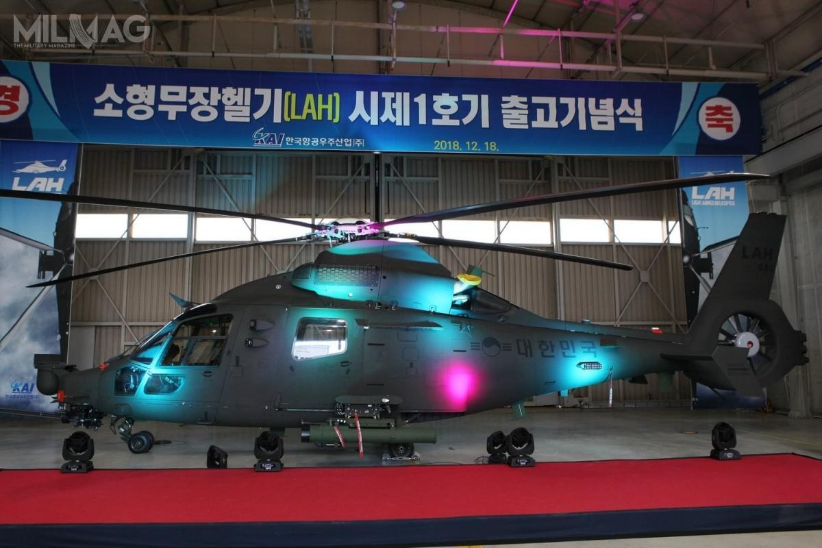 Program LAH/LCH, rozwijany od2015, pozwoli naprzedłużenie linii produkcyjnej śmigłowców zrodziny H155/EC155B/AS356, któryweFrancji zostanie zamknięty narzecz rozwoju ibudowy śmigłowców H160 iH160M. /Zdjęcie: Korea Aerospace Industries