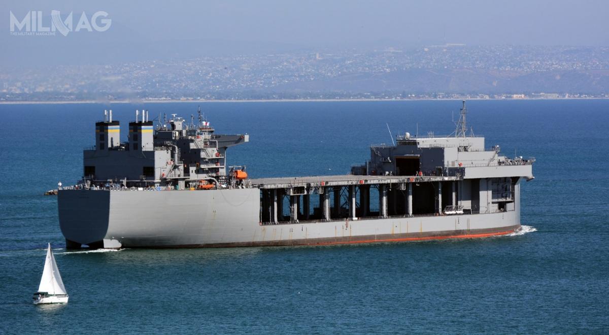 Założenia kostrukcyjne okrętów okryptonimie Littoral Strike Ship (LSS) przypominają te dla amerykańskich okrętów-baz typu ESB / Zdjęcie: US Navy