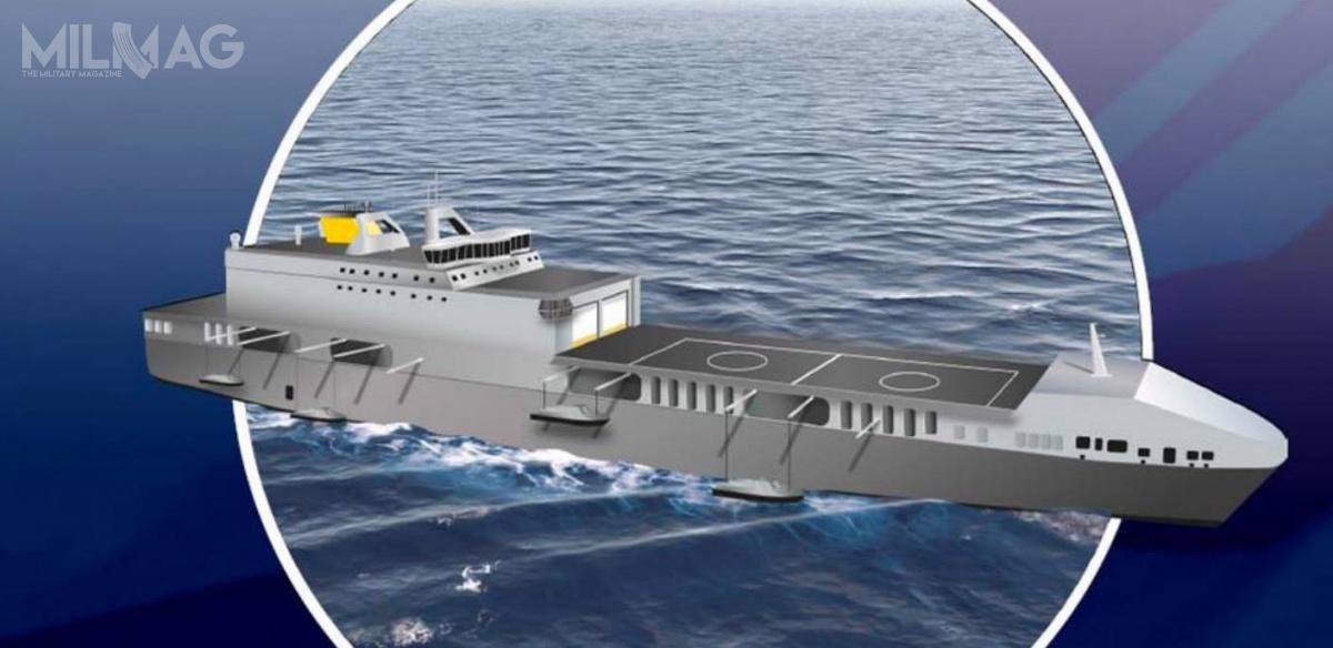 Okręty typu Littoral Strike Ship będą przeznaczone przede wszystkim dodesantowania jednostek specjalnego przeznaczenia zużyciem śmigłowców transportowych iłodzi desantowych / Grafika: Adm. Sir Philip Jones