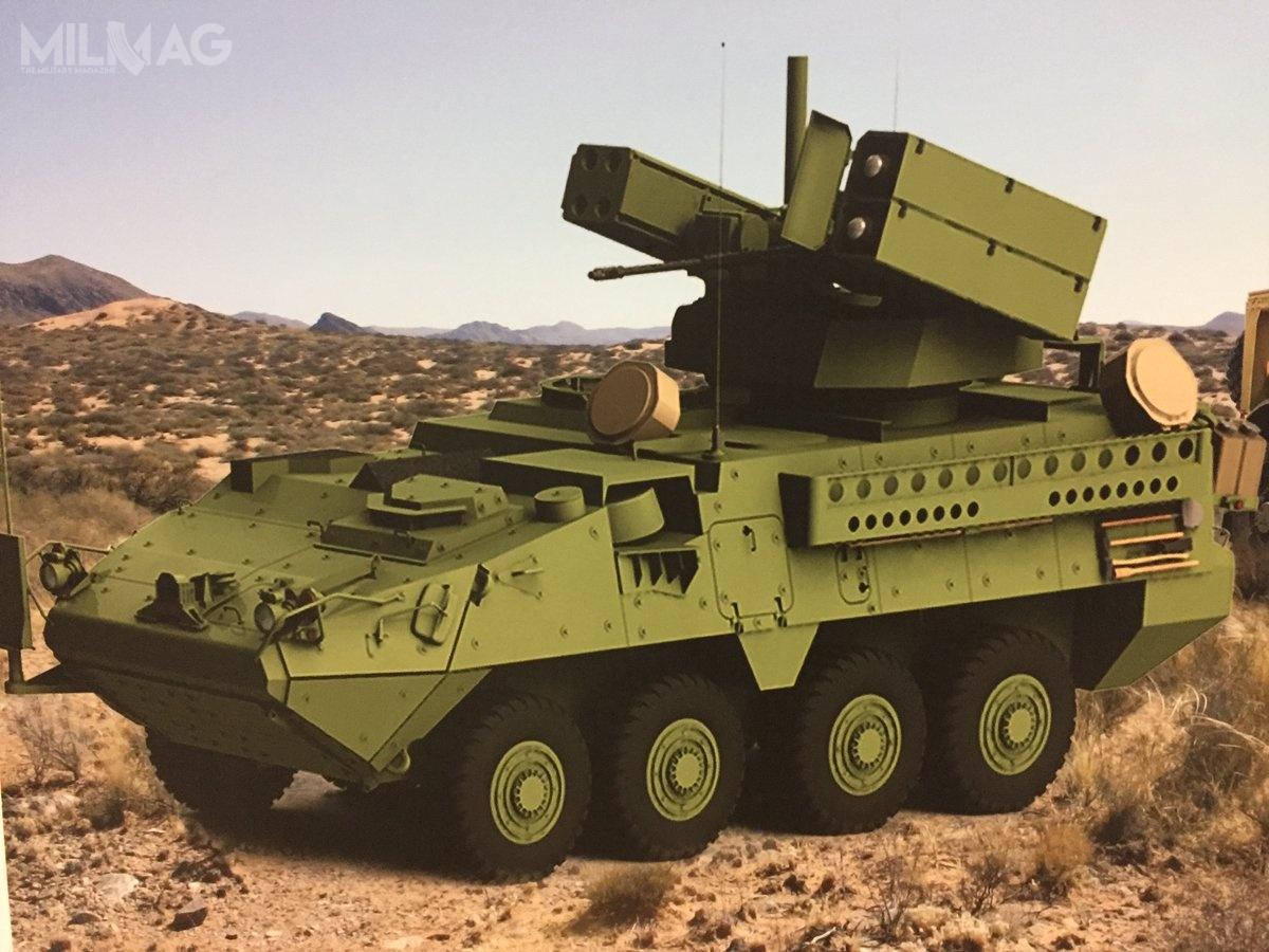Bezzałogowy moduł zaoferowany US Army może zostać uzbrojony wpociski przeciwlotnicze Stinger, ppk Hellfire i30-mm armatę automatyczną / Grafika: Leonardo DRS