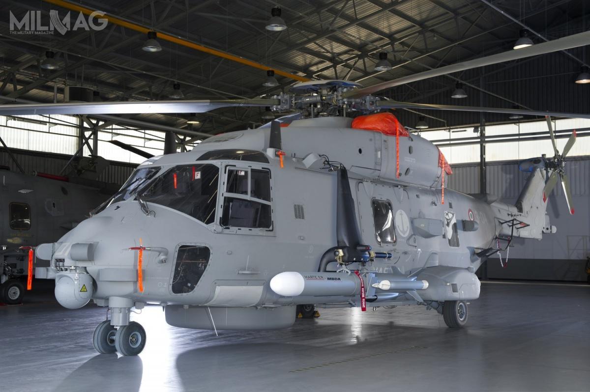 Wstępna integracja dwóch pocisków Marte ER ześmigłowcem NH90 nastąpiła wczerwcu 2014
