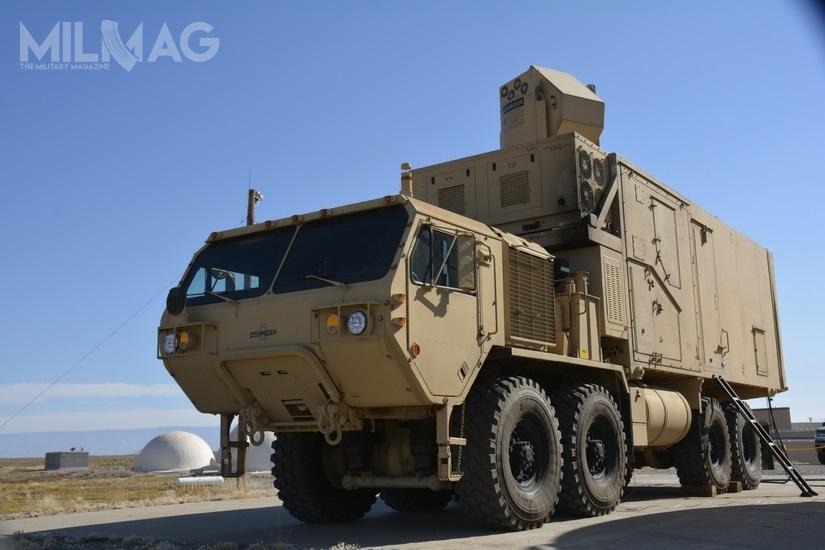 Kolejny krok wrozwoju systemów laserowych - 10-kilowatowy HELMTT osadzony naośmiokołowym podwoziu Heavy Expanded Mobility Tactical Truck / Zdjęcie: US Army