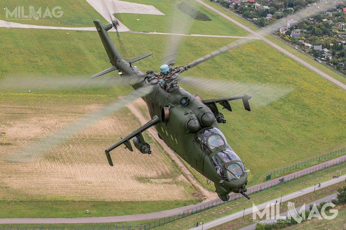 Zlecone badania najprawdopodobniej posłużą dowydłużenia resursów eksploatacyjnych polskich Mi-24, jak też uzasadnią modernizację tego śmigłowca / Zdjęcie: Michał Adamowski