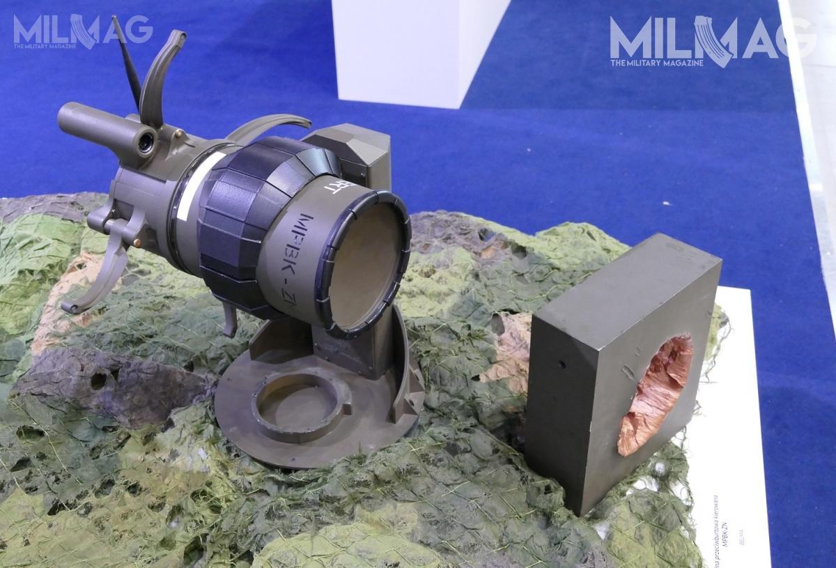 Rozwijana przezBydgoskie Zakłady Elektromechaniczne BELMA przeciwburtowa mina kierowana MPBK-ZN / Zdjęcie: Remigiusz Wilk