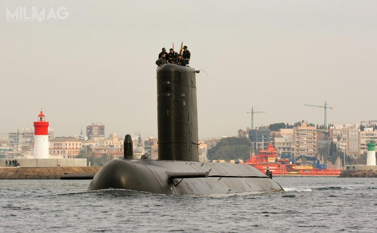 Marynarka wojenna Hiszpanii dysponuje jednym sprawnym okrętem podwodnym / Zdjęcie: MO Hiszpanii