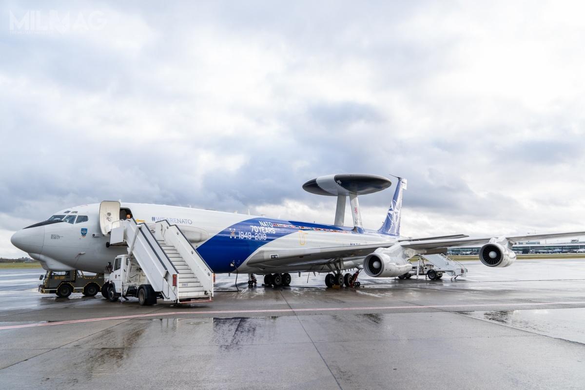 Prace modernizacyjne wramach programu FLEP pozwolą nawysłużenie eksploatacji natowskich samolotów wczesnego ostrzegania idozoru przestrzeni powietrznej do2035-2040 / Zdjęcia: NATO