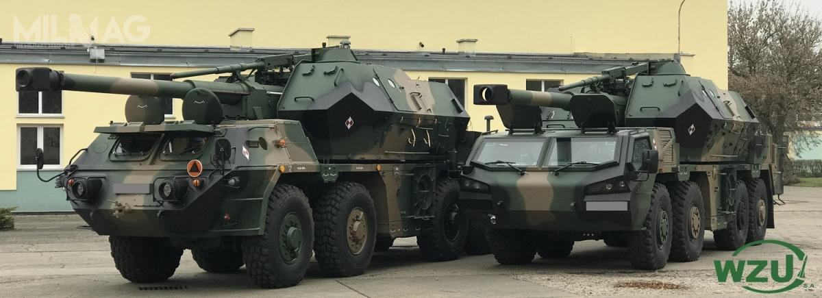 Pod koniec ub.r. Wojskowe Zakłady Uzbrojenia zaprezentowały zmodyfikowaną samobieżną 152-mm armatohaubice Dana-M / Zdjęcie: WZU