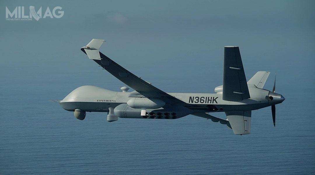 Amerykańska spółka General Atomics Aeronautical Systems zakończyła testy zdolności zwalczania okrętów podwodnych przezbojowy bezzałogowiec MQ-9A Reaper Block 5. / Zdjęcie: GA-ASI