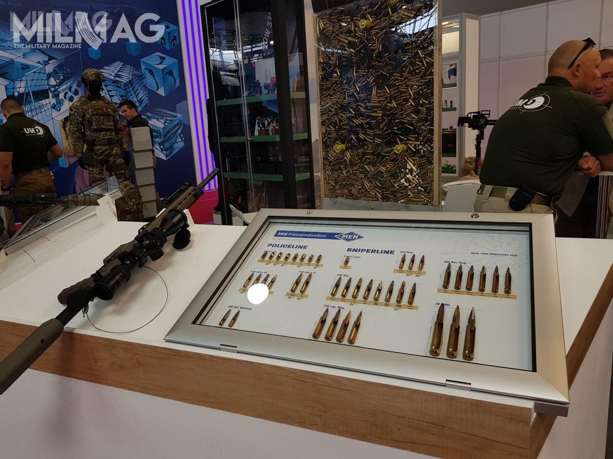 Ekspozycję uzupełniła gablota reprezentująca asortyment niemieckiej amunicji MEN (Metallwerk Elisenhütte). / Zdjęcia: Jakub Link Lenczowski