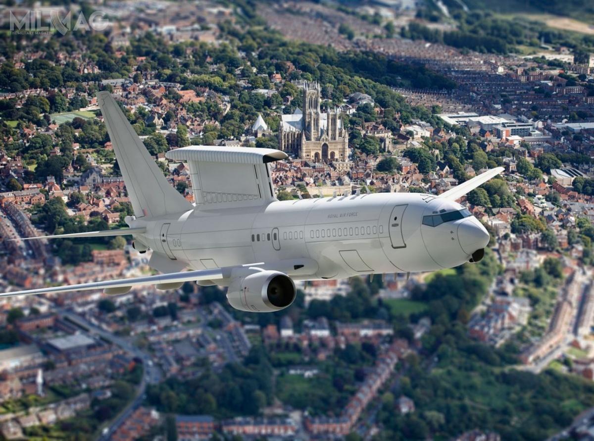 E-7A Wedgetail jest wyposażony wopracowany przezNorthrop Grumman, pracujący wpaśmie L, wielozadaniowy radar zeskanowaniem elektronicznym MESA. Użytkownikami E-7A są Australia (6egzemplarzy), Korea Południowa (4) iTurcja (4). Wkrótce dołączy donich Wielka Brytania z5egzemplarzami / Grafika: Ministerstwo Obrony Wielkiej Brytanii