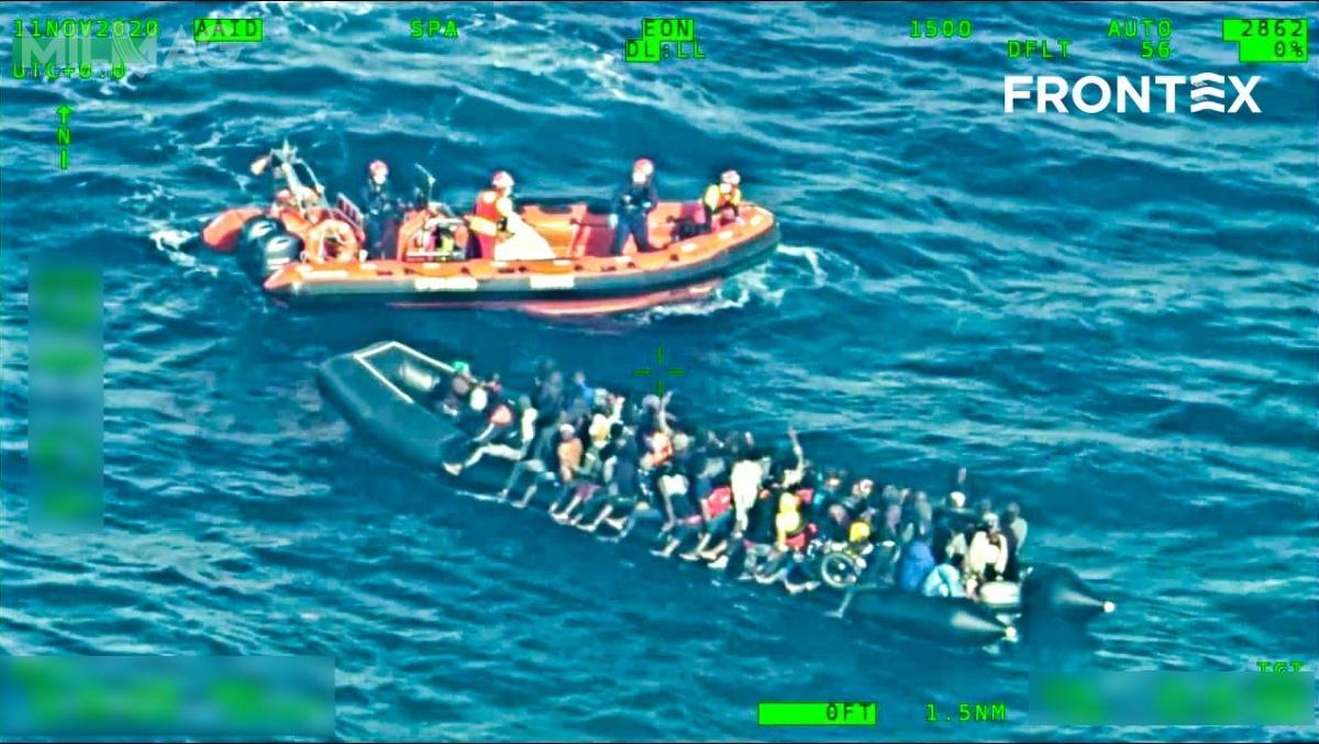W pierwszych dziesięciu miesiącach bieżącego roku, nielegalna migracja dopaństw Unii Europejskiej spadła o21 procent, wporównaniu zanalogicznym okresem roku ubiegłego / Zdjęcie igrafika: Frontex