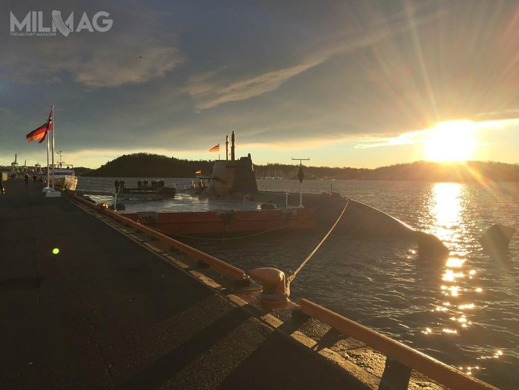 Norwegia zamówi cztery, aNiemcy dwa okręty podwodne typu 212CD, które będą bazować natypie 212A, użytkowanym już przezNiemcy, atakże przezWłochy. Okręty zostaną wyposażone wnapęd niezależny odpowietrza (AIP) oparty oogniwa paliwowe zpolimerową membraną elektrolityczną (PEM) iprzeciwokrętowe pociski rakietowe NSM (Naval Strike Missile) / Zdjęcie: Federalne Ministerstwo Obrony Niemiec