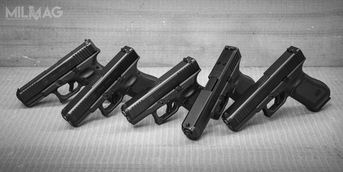 Glock zapowiedział wprowadzenie narynek pięciu nowych pistoletów Glock generacji piątej klasycznych iwstandardzie MOS. Broń ma być oferowana doamunicji 10 mm x 22/.40 S&W. / Zdjęcia: Glock