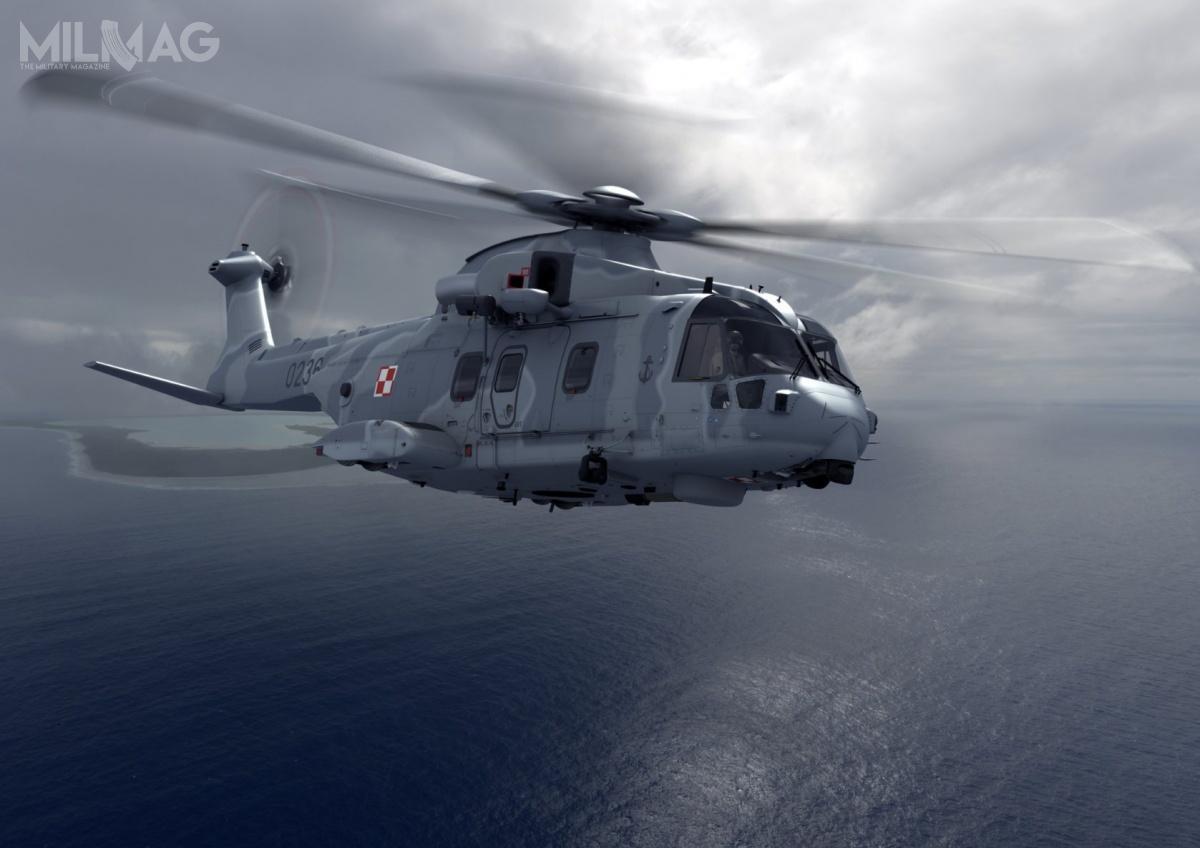 Zgodnie zharmonogramem, wciągu dwóch lat Marynarka Wojenna RP odbierze cztery śmigłowce ZOP/SAR/CSAR typu AW101. Będą zastępować przestarzałe Mi-14PŁ iMi-14PŁ/R, którychresursy wyczerpią się rok później. AW101 dozadań ZOP będą uzbrojone wlekkie torpedy MU90 Impact / Grafiki izdjęcie: Polska Grupa Zbrojeniowa