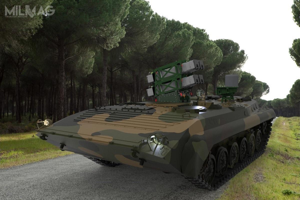 Spike NLOS toprzeciwpancerny pocisk kierowany ozasięgu wynoszącym 32 km. Broń może być wykorzystywana wkażdych warunkach pogodowych. Wyrzutnia Spike NLOS może jednocześnie razić wiele celów opancerzonych