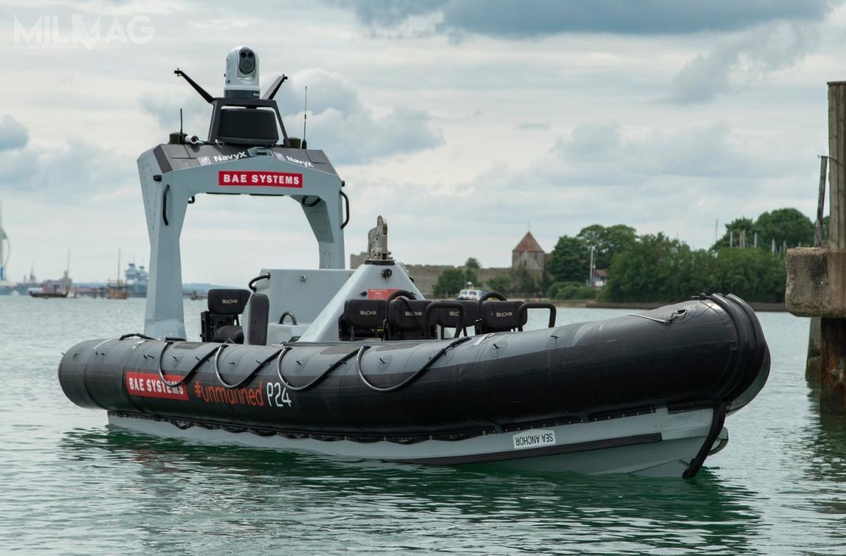 Łódź PAC24 wwersji autonomicznej, poraz pierwszy została zaprezentowana napoczątku 2019 następnie przetestowana wewrześniu, podczas londyńskich targów przemysłu obronnego ibezpieczeństwa DSEI 2019