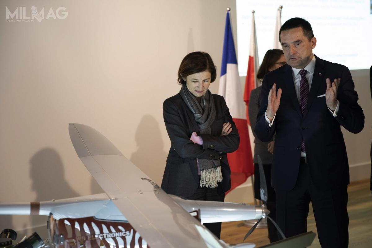 Florence Parly przebywał wPolsce wramach oficjalnej dwudniowej wizyty prezydenta Republiki Francuskiej Emmanuela Macrona / Zdjęcie: Grupa WB