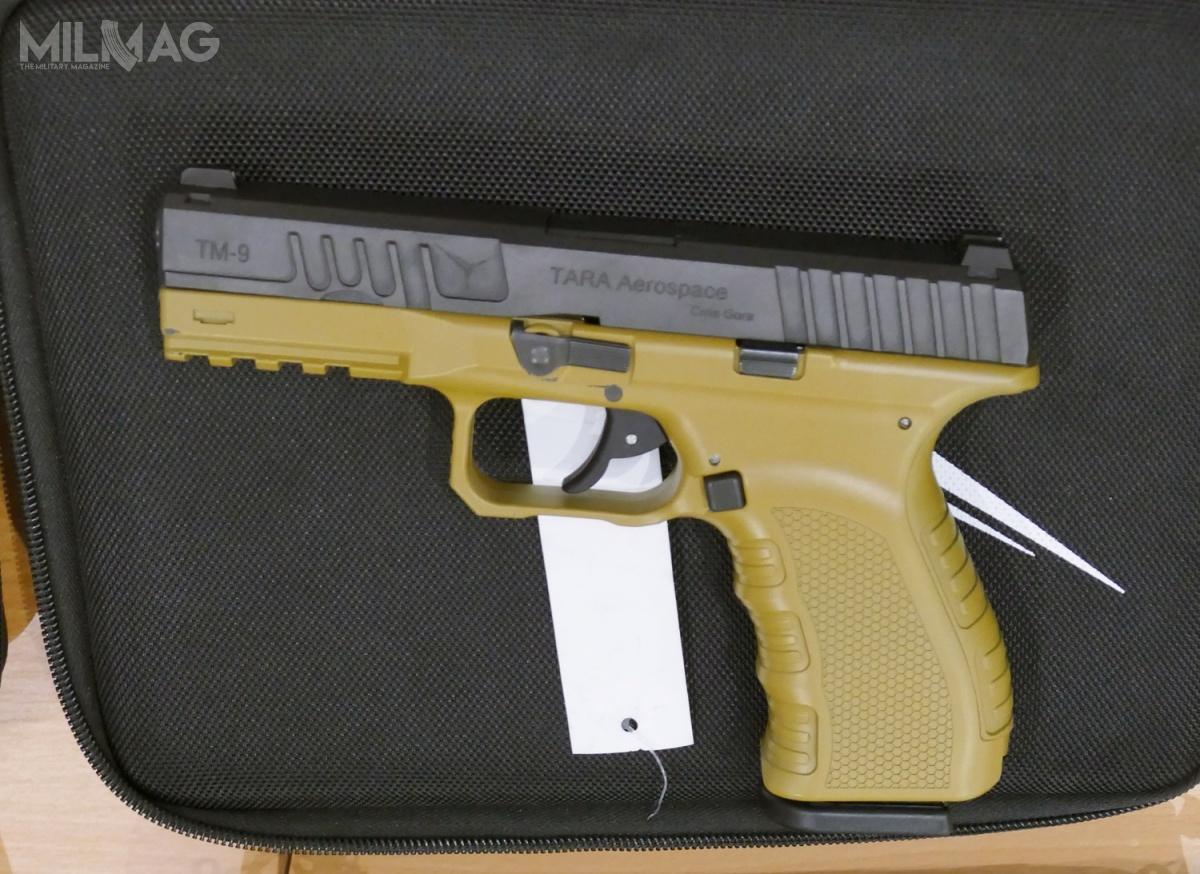 Pistolet samopowtarzalny Tara Precision TM-9 Gen2 był prezentowany – jako jedna zniewielu nowości – nakieleckich targach MSPO 2019 / Zdjęcie: Remigiusz Wilk