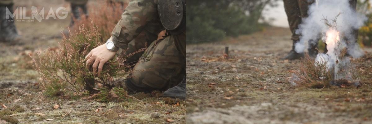 Mina sygnalizacyjna Płomień ma nacelu ostrzeżenie wojsk własnych wprzypadku wtargnięcia przeciwnika. / Zdjęcia: st. szer. Tomasz Fleszar, 10. Brygada Kawalerii Pancernej
