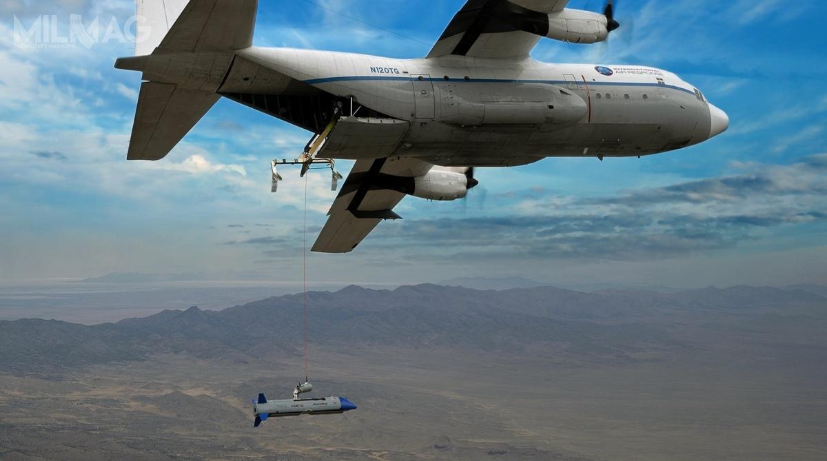 Zespół konstrukcyjny programu Gremlins składa się zespółek Dynetics, Kratos Unmanned Aerial Systems (płatowiec), Williams International (napęd), Applied Systems Engineering, Kutta Technologies, Moog, Sierra Nevada Corporation, Systima Technologies iAirborne Systems. Dodatkowe wsparcie dla prób wlocie obejmowało współpracę zDugway Rapid Integration and Acceptance Center (RIAC), International Air Response (IAR) iHigh-G Technologies. / Zdjęcie: Leidos