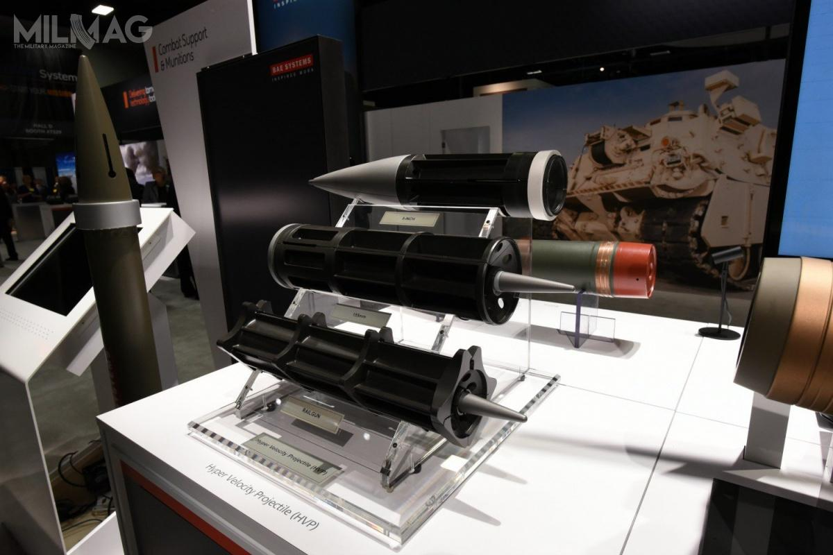 BAE Systems opracował trzy typu amunicji HPV do127-mm armat morskich, 155-armat morskich ilądowych orazdział elektromagnetycznych / Zdjęcie: BAE Systems