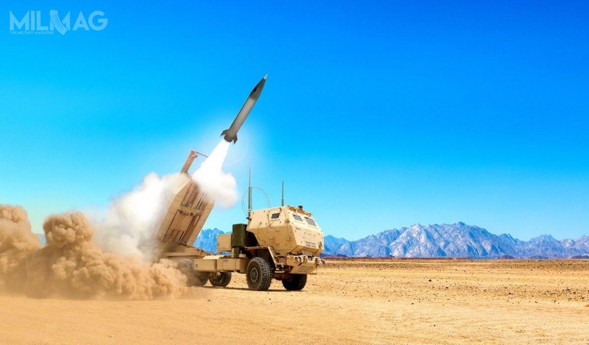 Choć zasięg rażenia był początkowo ograniczony wymogami traktatu INF do60-499 km obecnie, według źródeł wDepartamencie Obrony, producenci otrzymali zielone światło nazwiększenie zasięgu do800 km / Grafika: Lockheed Martin