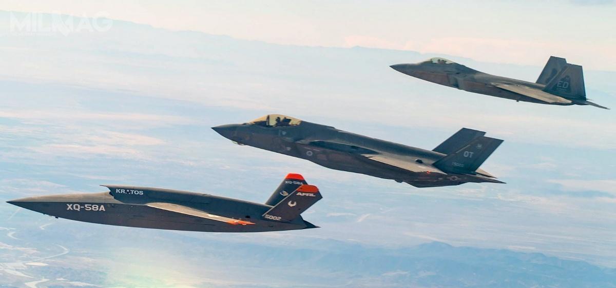 Obecnie, samoloty F-22 iF-35 dołączności muszą wykorzystywać niezabezpieczone łącze danych Link 16, gdyżIFDL iMADL są zesobą niekompatybilne. Wdrożenie przekaźnika gatewayONE ma tozmienić / Zdjęcia: Tech. Sgt. James Cason, USAF