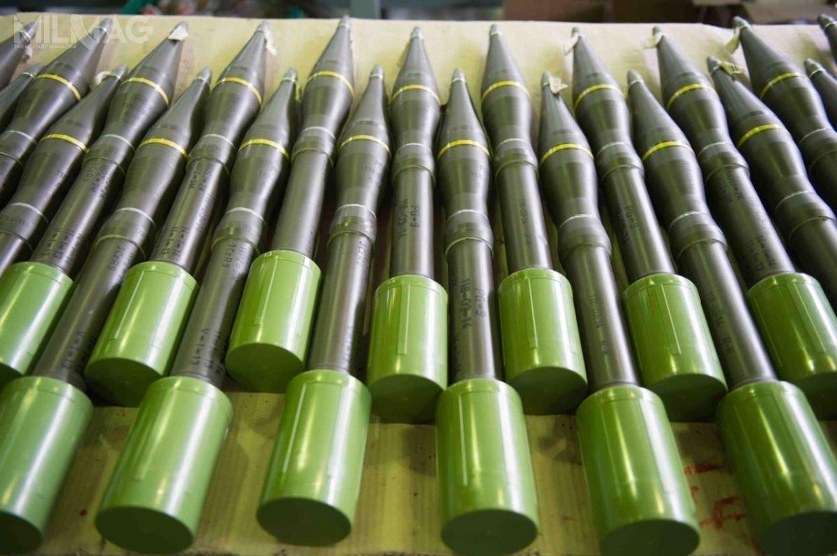 Bojowa wersja 73-mm rakietowych naboi przeciwpancernych PG-15W służy dorażenia celów opancerzonych. Amunicja ma masę jednostkową 2,6 kg