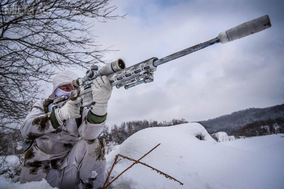 Pierwsze karabiny SAKO TRG M10 zaczęły trafiać dosnajperów Wojsk Lądowych podkoniec 2017. Sto pięćdziesiąt fińskich konstrukcji zamówiono wlistopadzie 2016  / Zdjęcie: Bartosz Różański/21. BSP