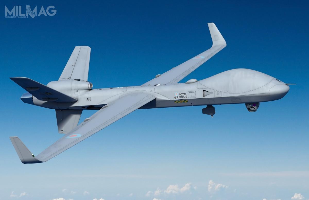 Wielka Brytania zadeklarowała zakup nawet 26 bojowych bezzałogowych statków latających MQ-9B SkyGuardian, które otrzymają lokalne oznaczenie Protector RG Mk.1, które zastąpią obecnie wykorzystywane MQ-9A Reaper / Grafika: ministerstwo obrony Wielkiej Brytanii