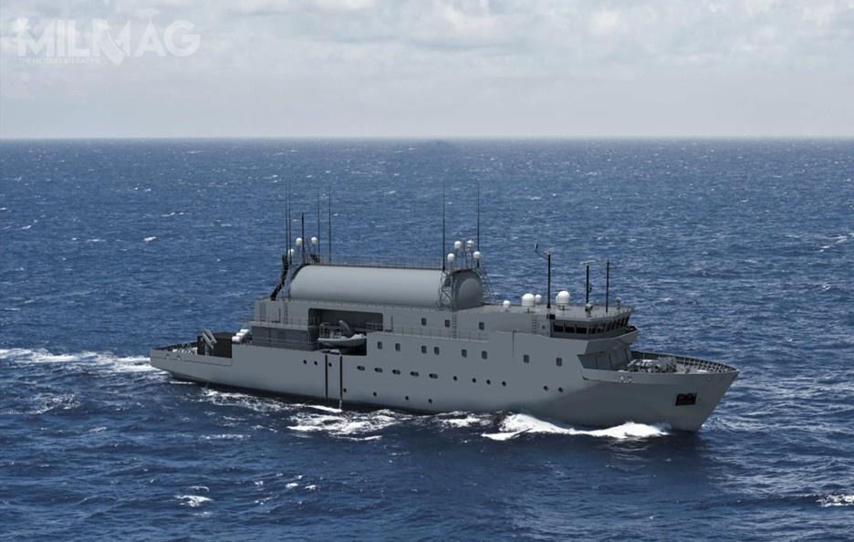 Okręt będzie przeznaczony doprzechwytywania ianalizy sygnałów radiowych