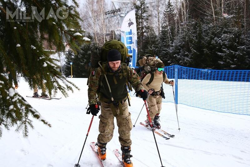 W trzeciej edycji Military Ski Patrol uczestnicy musieli wykazać doskonałymi umiejętnościami jazdy nanartach, znajomością broni iumiejętnościami przetrwania wwarunkach zimowych