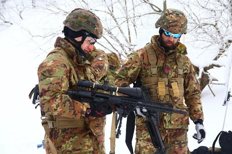 Polscy żołnierze współzawodniczyli zeswoimi kolegami zWłoch, USA iCzech
