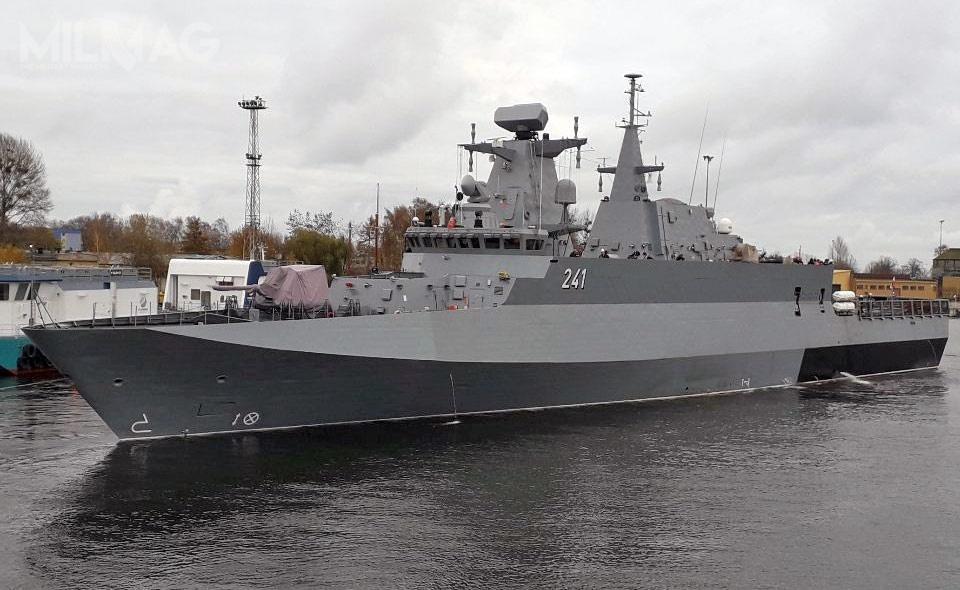 Uzbrojenie okrętu to76-mm armata morska OTO Melara Super Rapid L/62, dwie 30-mm armaty Marlin-WS, cztery wyrzutnie pocisków przeciwlotniczych krótkiego zasięgu Grom icztery 12,7-mm wielkokalibrowe karabiny maszynowe ZMT WKM-Bm / Zdjęcia: Polska Grupa Zbrojeniowa