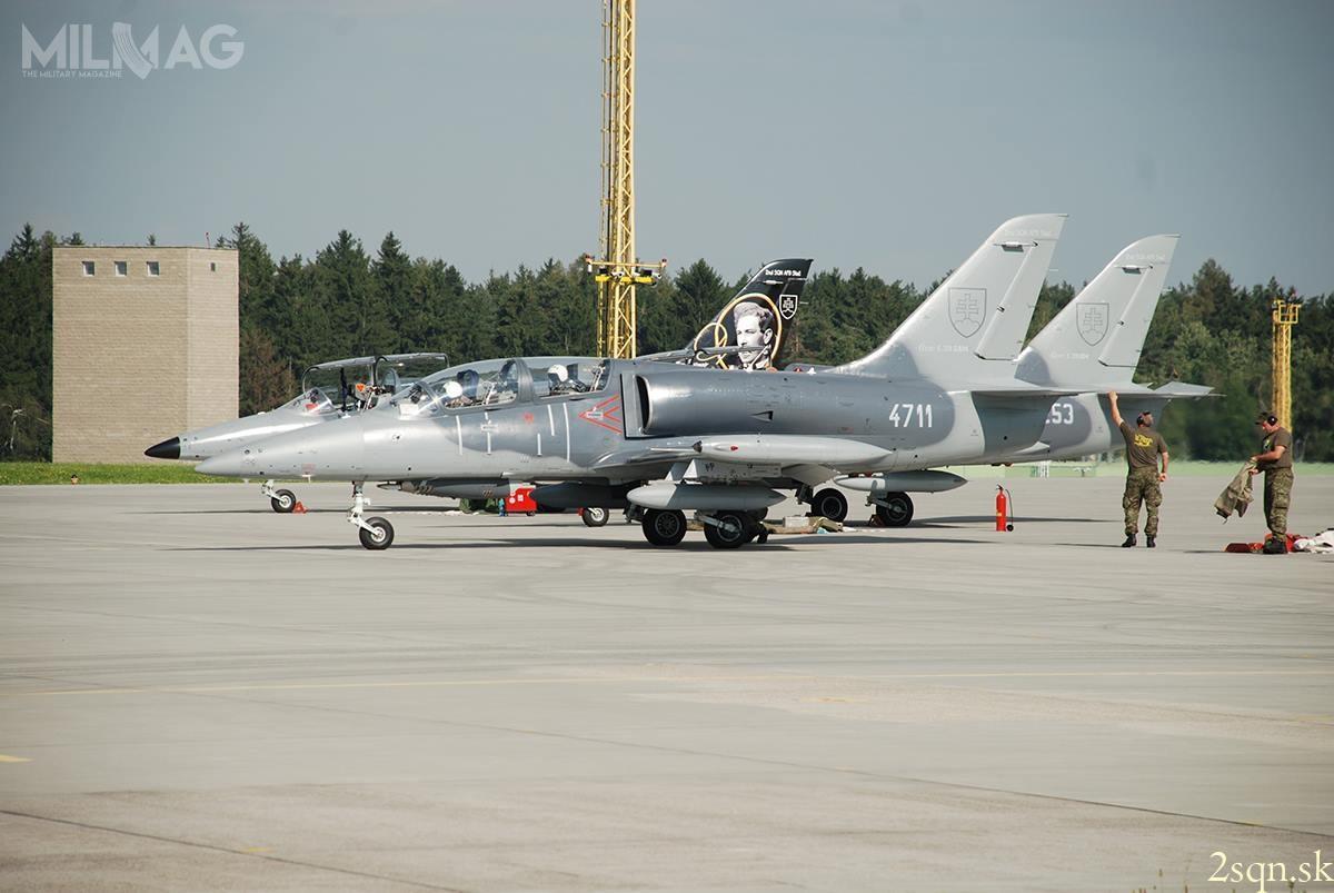 Słowacja użytkuje 7z19 samolotów L-39 Albatros (początkowo 8L-39C, 2L-39V i9L-39ZA), które otrzymała popodziale czechosłowackich wojsk lotniczych w1992. Samoloty w2005 przeszły modernizację dostandardów L-39CM iL-39ZAM, zgodnych zwymogami NATO / Zdjęcie: 2. Eskadra Lotnictwa Taktycznego